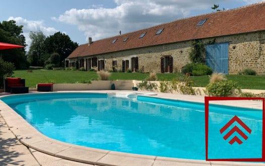 longere-demeure-charme-a-vendre-perche-piscine
